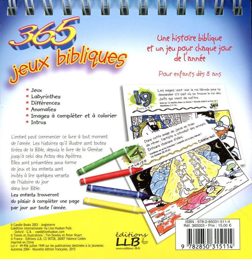 Häufig 365 Jeux Bibliques | Livres chrétiens pour enfants DB81